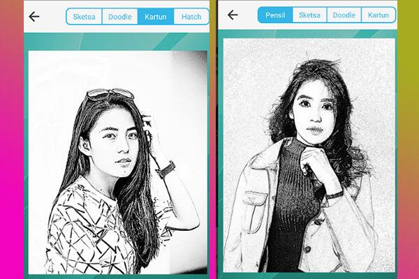 aplikasi edit foto jadi sketsa pensil hitam putih