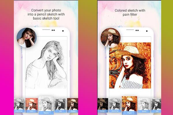 cara edit foto menjadi sketsa warna